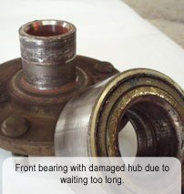 Damaged Front Bearing
